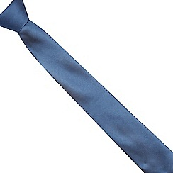 Red Herring - Dark blue slim textured tie