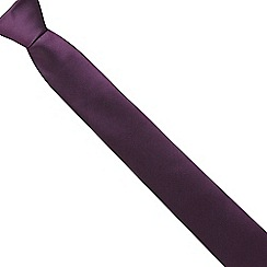 Red Herring - Purple textured slim tie