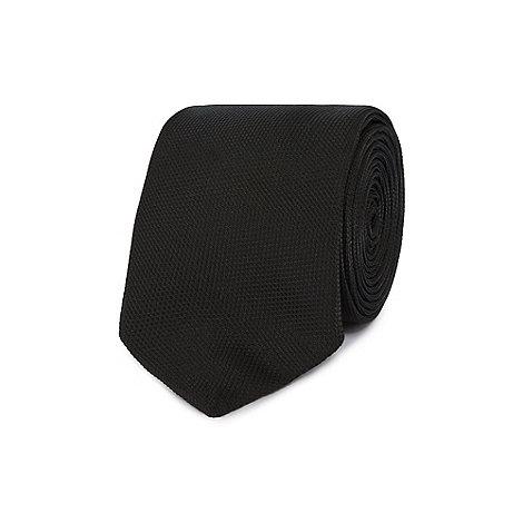 Red Herring - Black textured slim tie