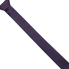 Red Herring - Purple plain skinny tie