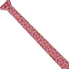 Red Herring - Pink floral skinny tie
