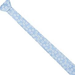 Red Herring - Light blue floral skinny tie