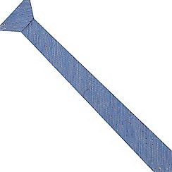 Red Herring - Blue neppy skinny tie