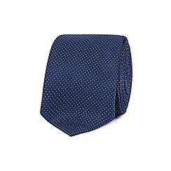 Red Herring - Blue pin dot slim tie