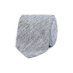 Red Herring - Blue textured slim tie