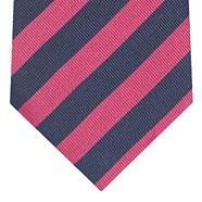Dark pink diagonal striped tie