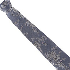 Jeff Banks - Blue floral silk tie
