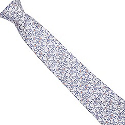Jeff Banks - Blue silk floral print tie