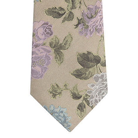 Jeff Banks - Designer bronze floral embroidered silk tie