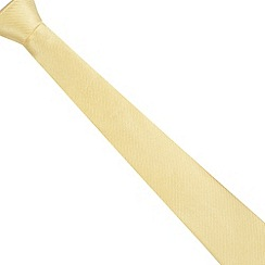 Jeff Banks - Designer light yellow ribbed silk tie