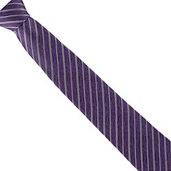 Jeff Banks - Purple striped silk tie