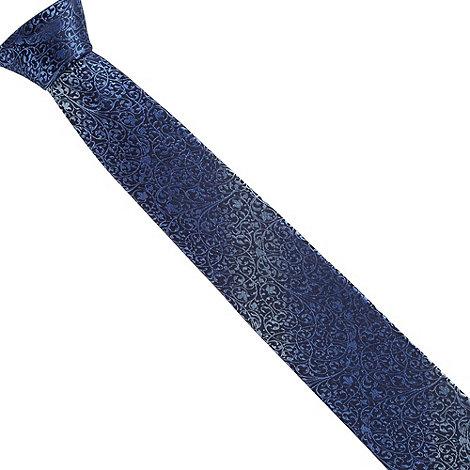 Jeff Banks - Designer blue floral silk tie