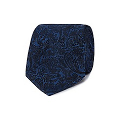 Jeff Banks - Navy paisley silk tie
