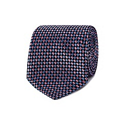 Jeff Banks - Purple basket weave silk tie