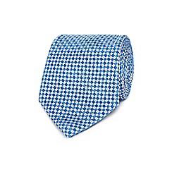 Jeff Banks - Light blue basket weave silk tie
