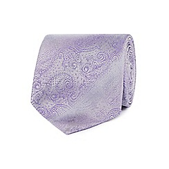 Jeff Banks - Lilac paisley silk tie
