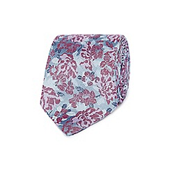 Jeff Banks - Pink floral silk tie