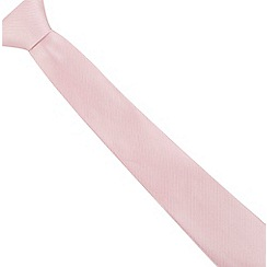 Jeff Banks - Pink ribbed  silk tie