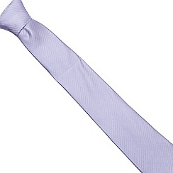 Jeff Banks - Lilac ribbed silk tie