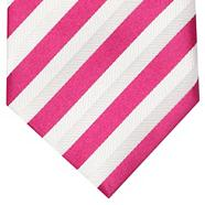 Designer dark pink herringbone striped tie
