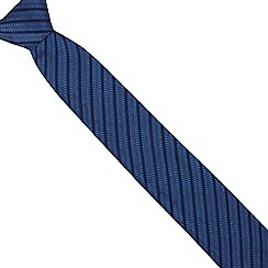J by Jasper Conran - Blue silk striped tie