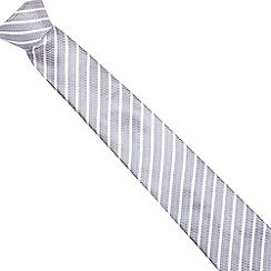 J by Jasper Conran - Silver silk striped tie