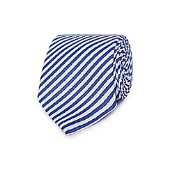 J by Jasper Conran - Blue and white striped silk tie