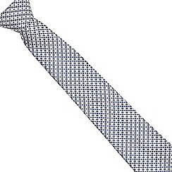 J by Jasper Conran - Grey geometric patterned tie