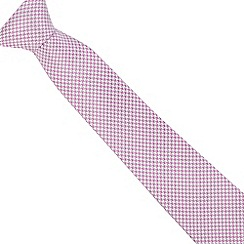 J by Jasper Conran - Lilac and white dogtooth fine silk tie