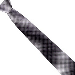 J by Jasper Conran - Purple textured dogtooth silk tie