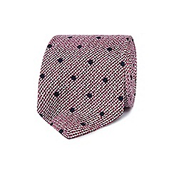 J by Jasper Conran - Red polka dot print tie