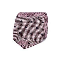 J by Jasper Conran - Red polka dot print tie