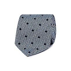 J by Jasper Conran - Blue polka dot print tie