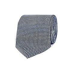 J by Jasper Conran - Blue textured diamond silk tie