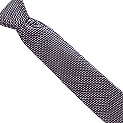 Osborne - Pink geometric arrow silk tie