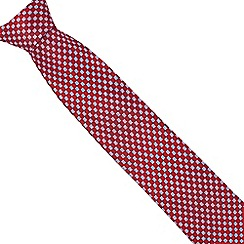Osborne - Red tile patterned tie