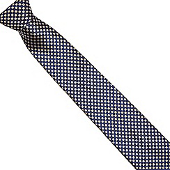 Osborne - Yellow wide striped silk tie