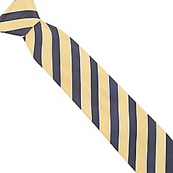 Osborne - Blue wide striped silk tie