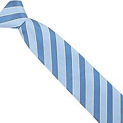 Osborne - Blue wide striped silk tie