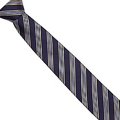 Hammond & Co. by Patrick Grant - Navy silk stitched tie