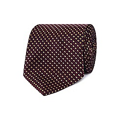 Hammond & Co. by Patrick Grant - Red geometric patterned tie