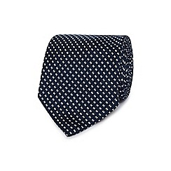 Hammond & Co. by Patrick Grant - Navy geometric patterned tie
