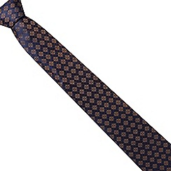Hammond & Co. by Patrick Grant - Navy tiled print silk tie