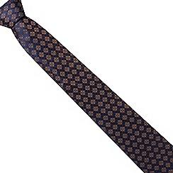 Hammond & Co. by Patrick Grant - Navy tiled print silk tie