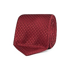 Hammond & Co. by Patrick Grant - Dark red textured tie