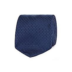 Hammond & Co. by Patrick Grant - Navy textured silk tie