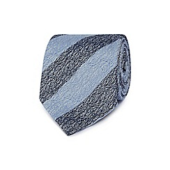 Hammond & Co. by Patrick Grant - Blue striped print tie
