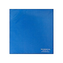Hammond & Co. by Patrick Grant - Blue silk logo print handkerchief