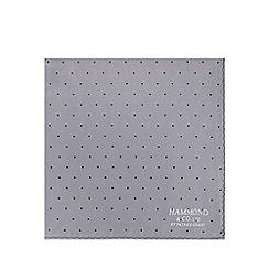 Hammond & Co. by Patrick Grant - Navy silk zig zag print handkerchief