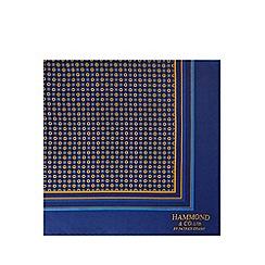 Hammond & Co. by Patrick Grant - Navy silk floral print handkerchief